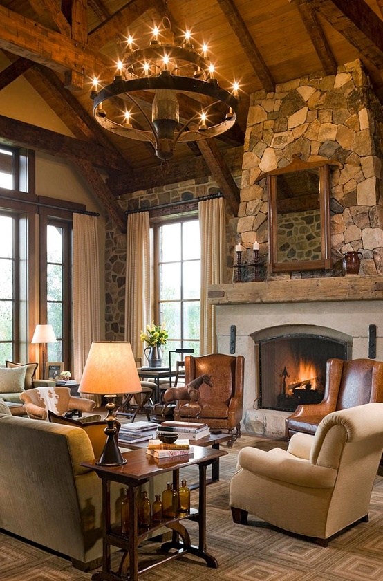 25 rustic living room design ideas for your home for Rustic decorating ideas for living rooms