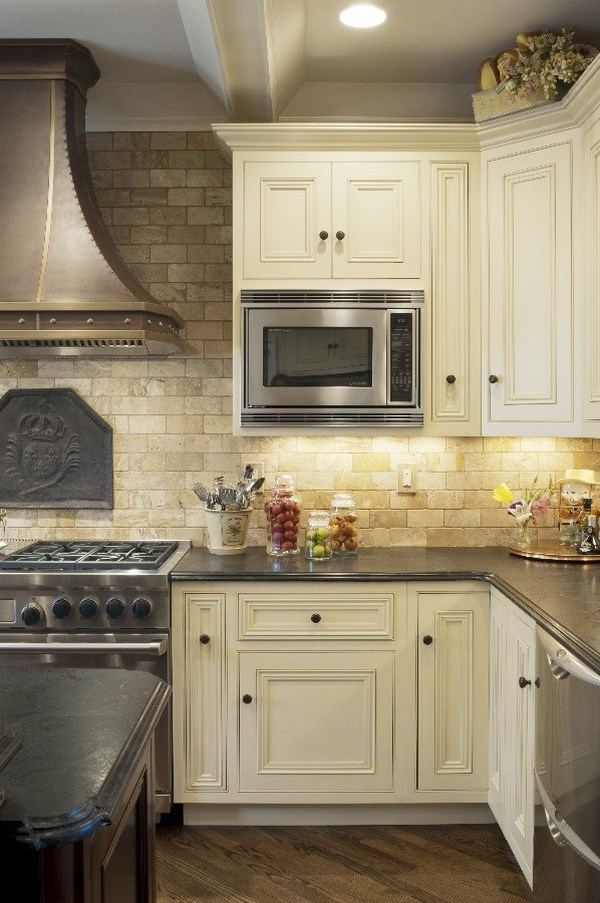 editerranean kitchen design travertine
