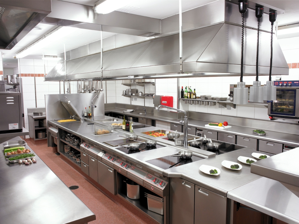 Industrial Kitchen With Comtemporary Design On Kitchen Design