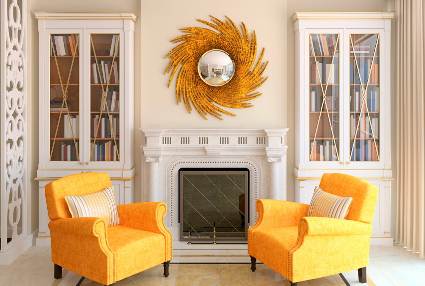25 best way to brighten up your living room Gold accessories for living room