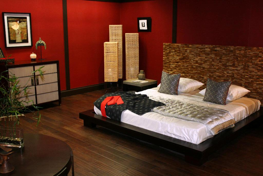 The beauty and style of asian bedroom designs for Red master bedroom designs