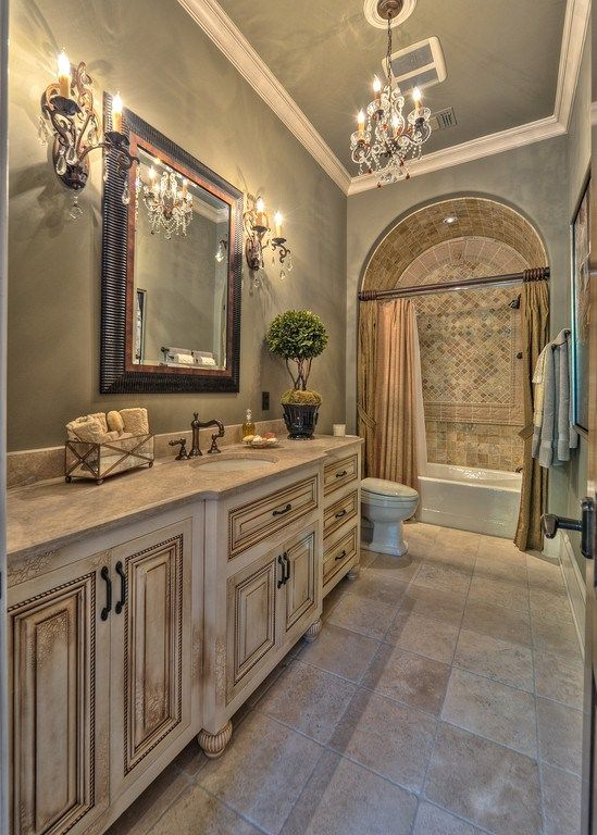 25 mediterranean bathroom designs to cheer up your space for Main bathroom design ideas