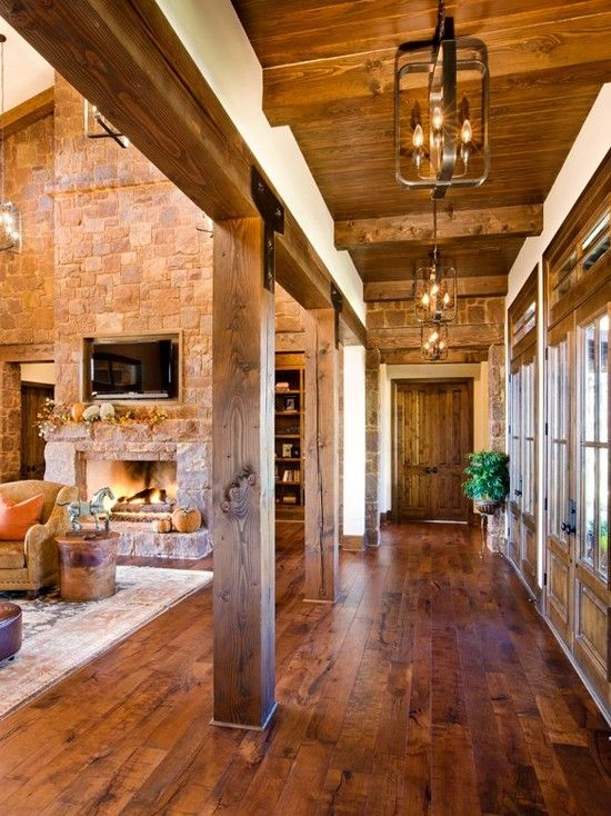 pretty rustic living room