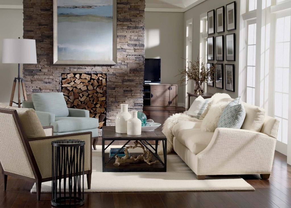 25 rustic living room design ideas for your home for Ethan allen living room designs