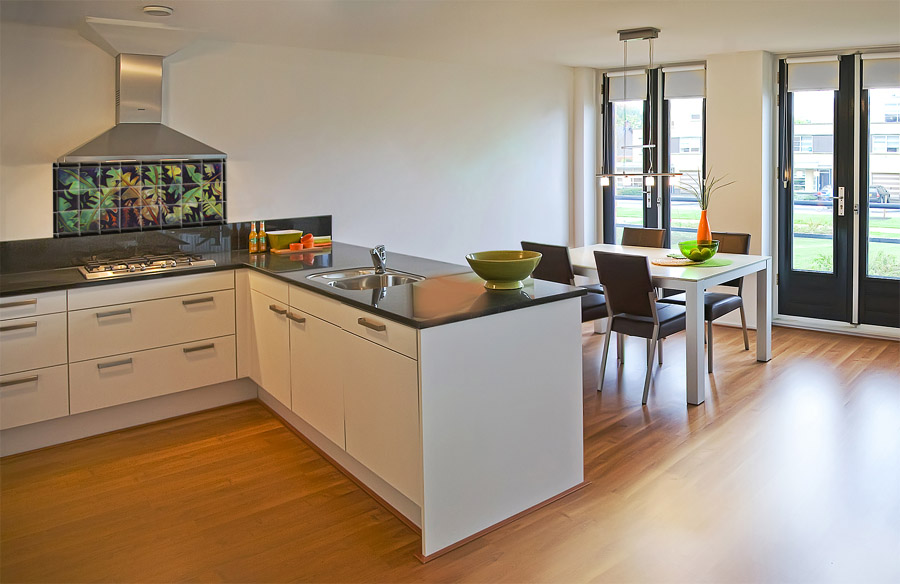 tropical kitchen backsplash