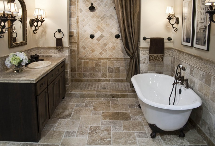 Admirable Mediterranean Style Bathroom