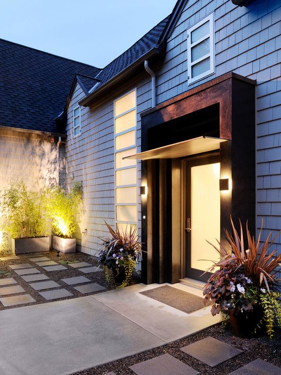 Amazing Contemporary Entry Beautiful Lighting Hillside Drive