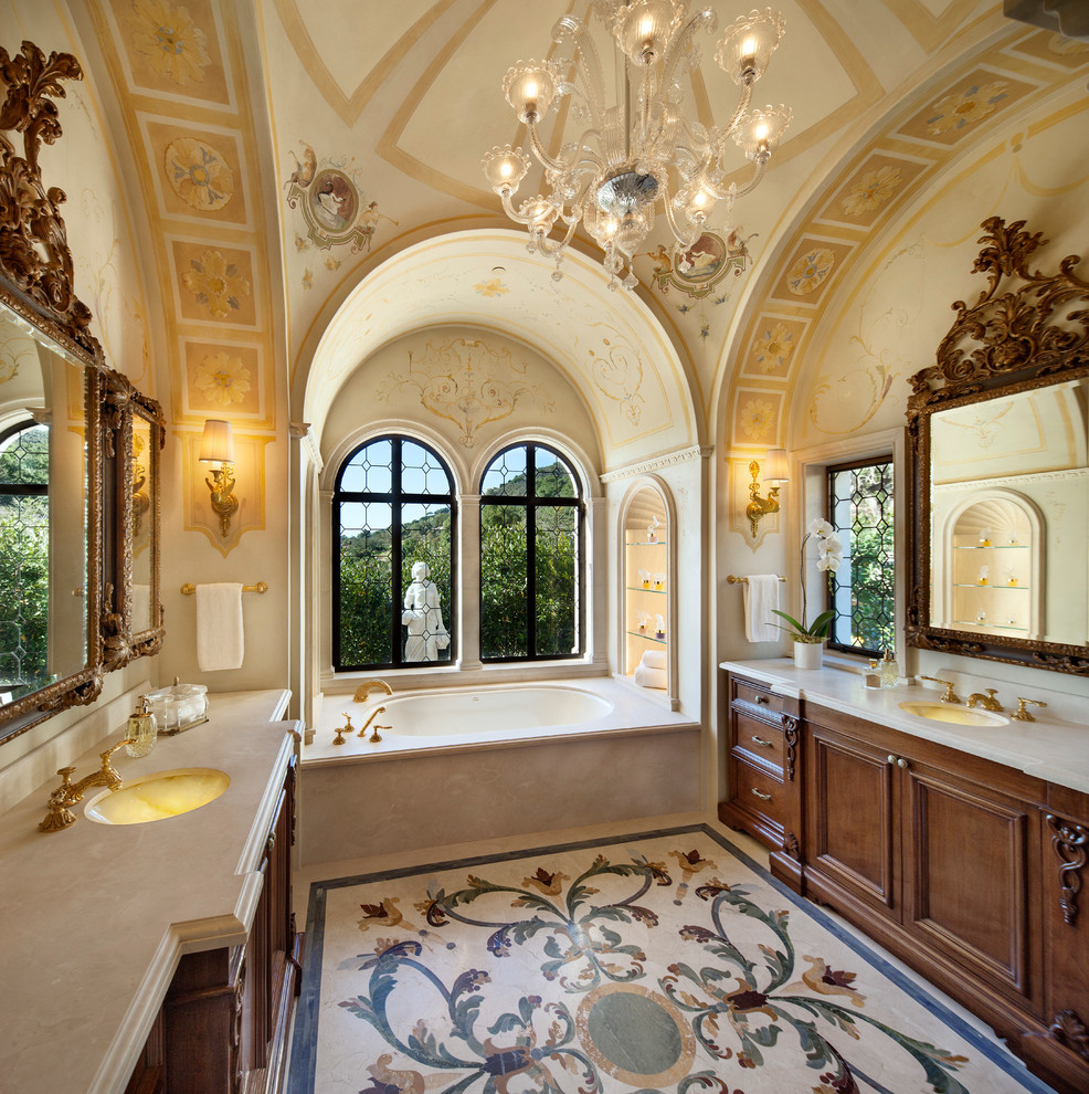 25 inspirational mediterranean bathroom design ideas for Master bathroom decor