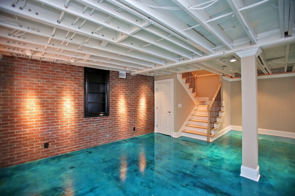 Convert your contemporary basement into livable space - Basement remodeling ideas ...