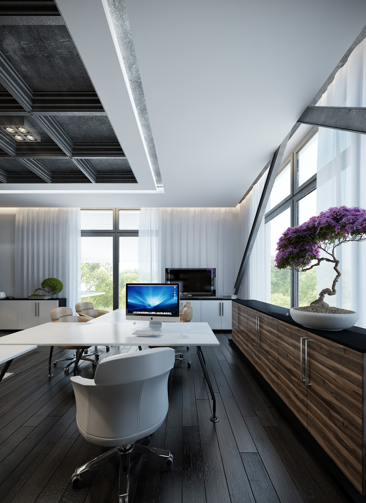 25 contemporary home office you are guaranteed to love for Interior design office layout