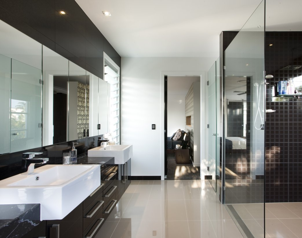 30 modern luxury bathroom design ideas for Modern style bathroom designs