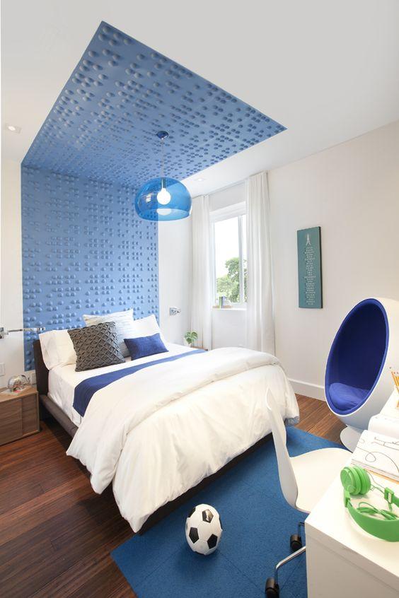 Contemporary kids bedroom ideas Accent headboard ideas