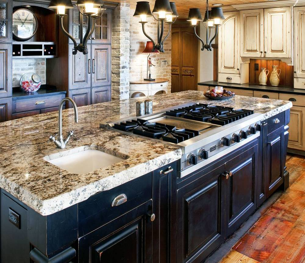 30 Attractive Kitchen Island Designs For Remodeling Your Kitchen: kitchen design center stove