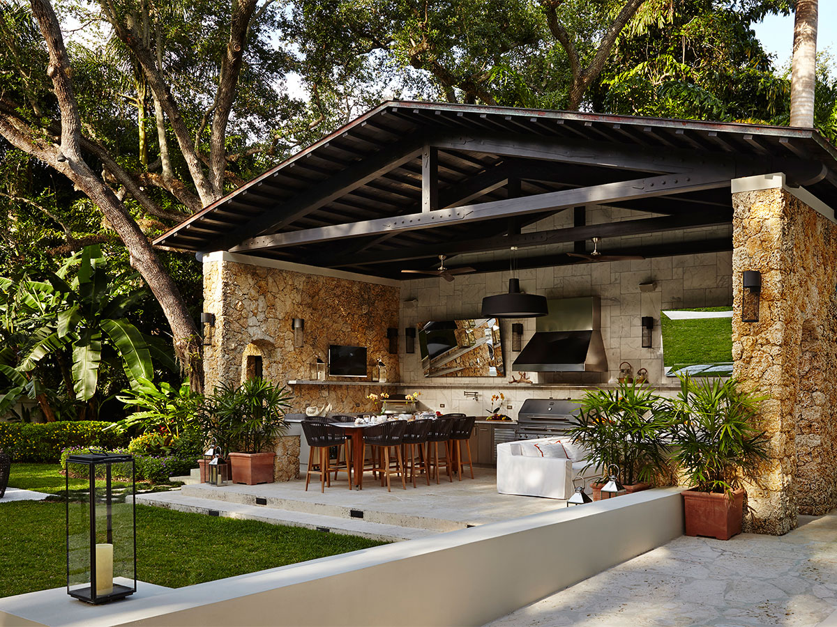 Outdoor kitchen designing the perfect backyard cooking for Covered outdoor kitchen designs
