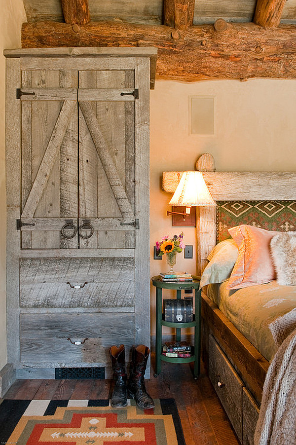 30 rustic bedroom designs to give your home country look for Cozy country bedroom ideas