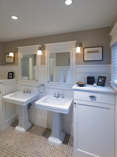 25 ideas to remodel your craftsman bathroom for Craftsman bathroom design