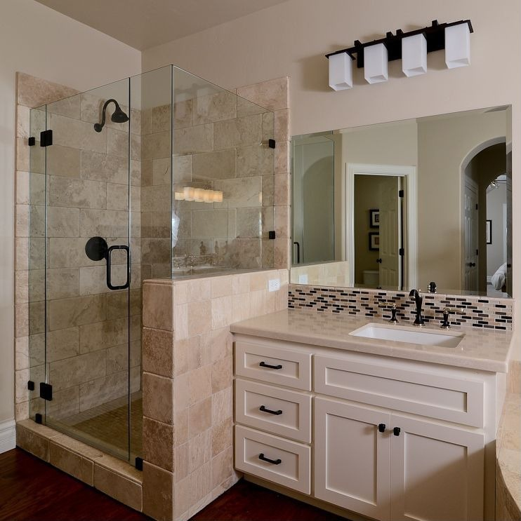 Craftsman Bathroom Rain Shower