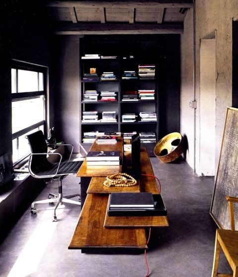 Dark Home Office Decor Ideas