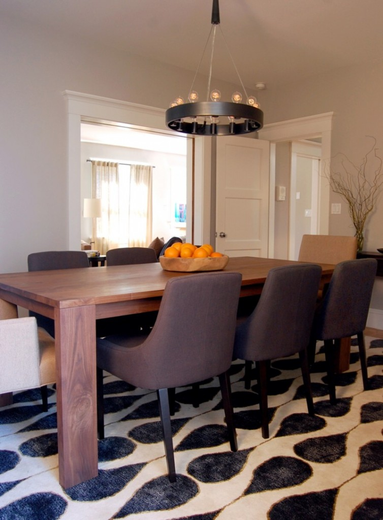 Think out of the box with asian dining room design ideas for Modern dining room table