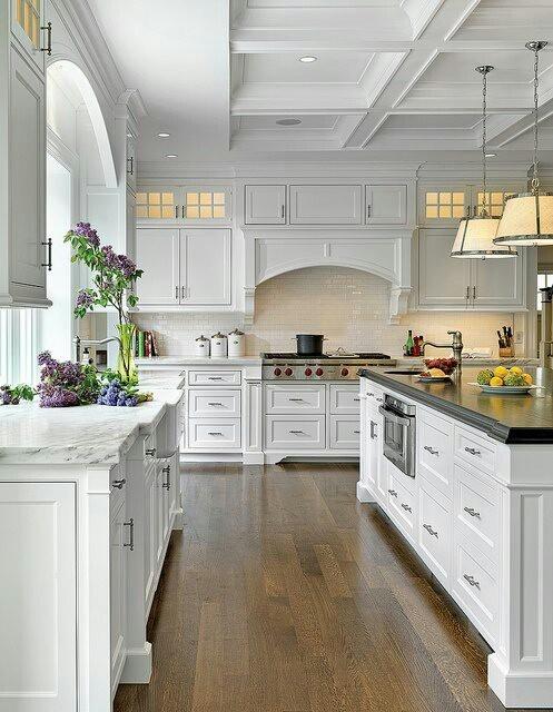 Dream kitchen white cabinets