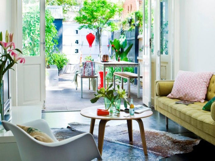 Eclectic indoor & outdoor space