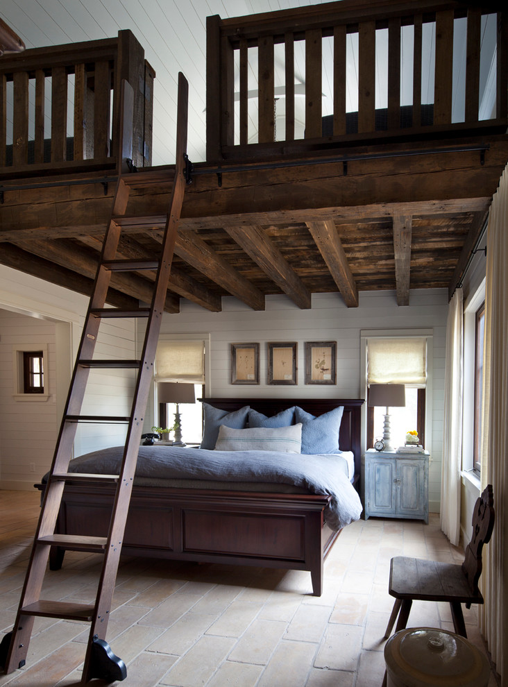 Elegant Queen Size Loft Bed Farmhouse Bedroom Remodeling Ideas