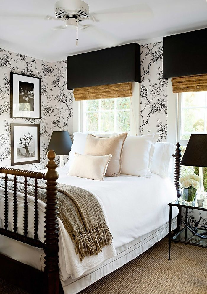 25 simple farmhouse bedroom design ideas for Black bedroom ideas pinterest