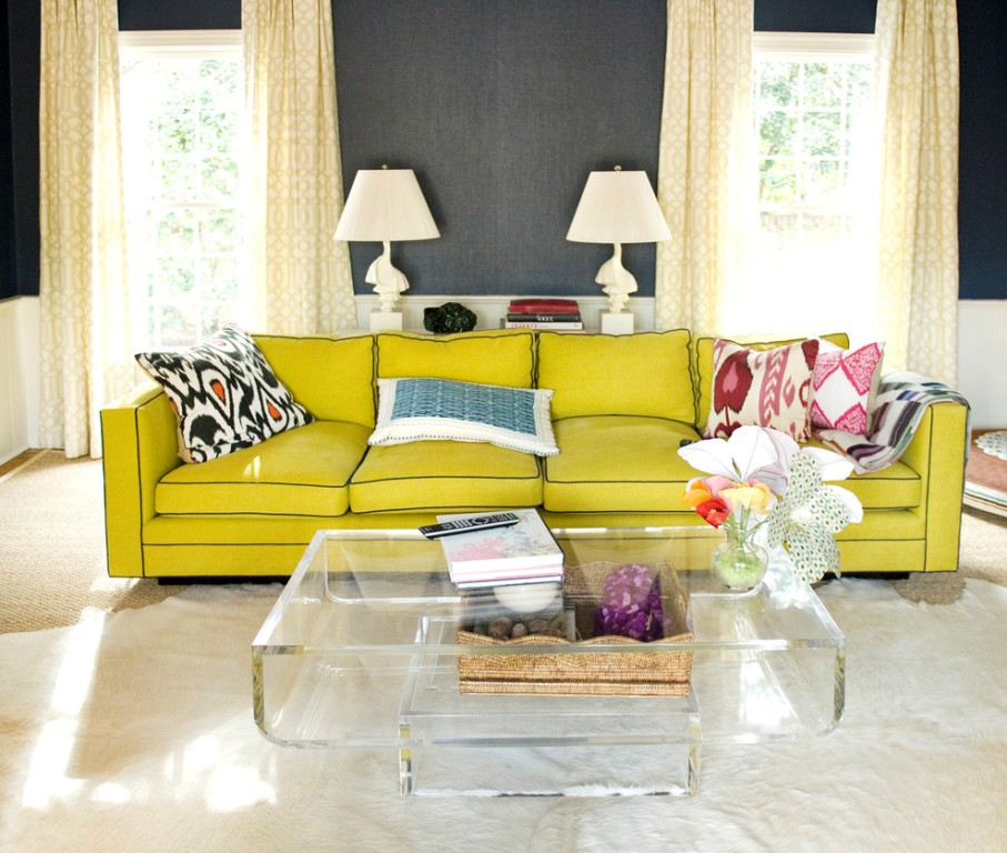 30 design ideas for your eclectic living room for Living room sofa table decorating