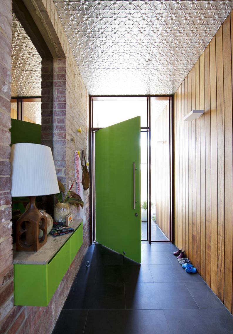 Handy ledge in a modern entryway