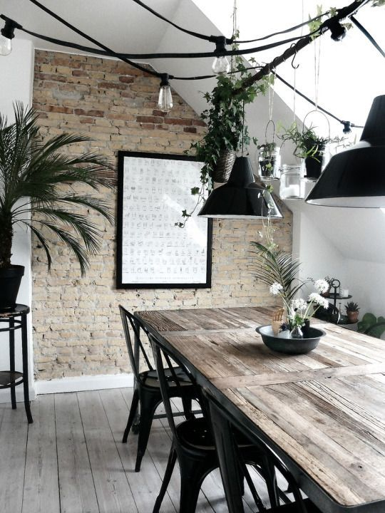31 Design Ideas For Decorating Industrial Dining Room