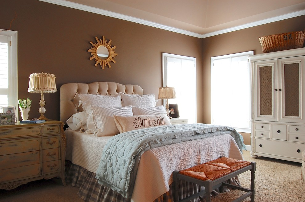 25 simple farmhouse bedroom design ideas for French country wall paint colors