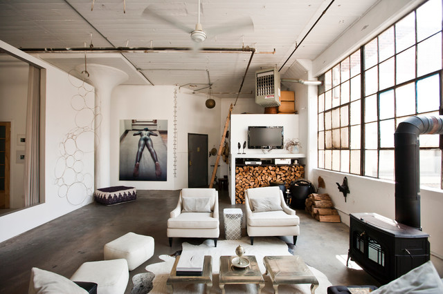 31 ultimate industrial living room design ideas Loft living room ideas