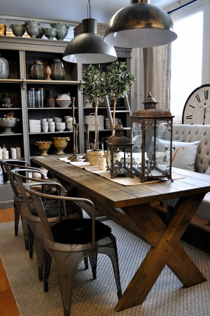 31 design ideas for decorating industrial dining room for Dining room decor ideas