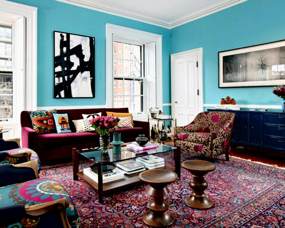 30 design ideas for your eclectic living room for Living room colors photos