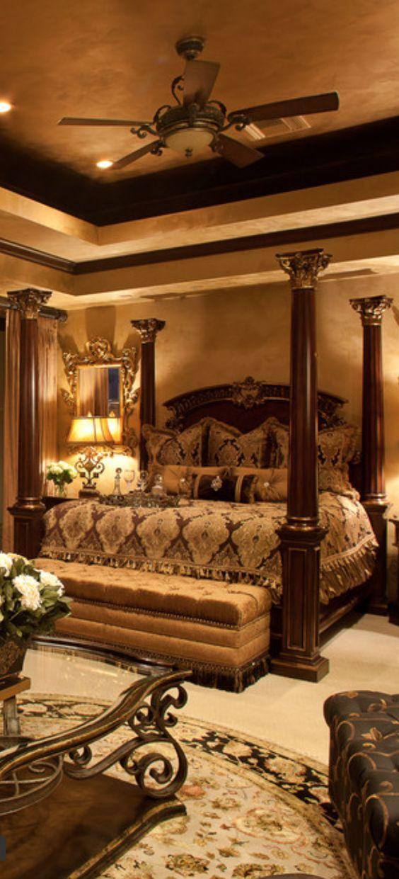 Mediterranean, Italian, Spanish bedroom