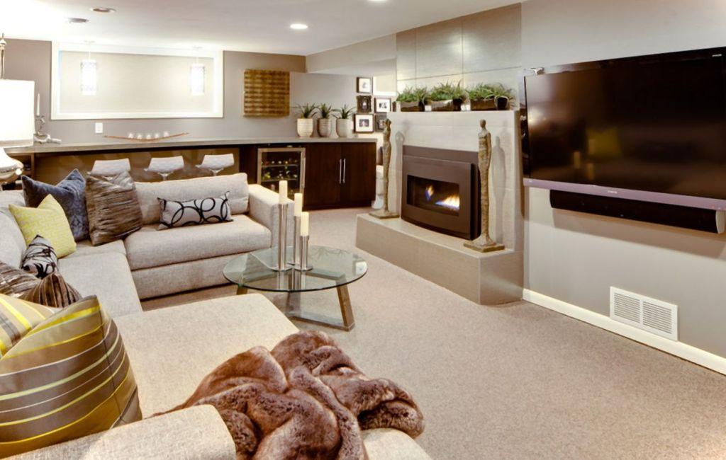 Modern Basement Finishing Ideas For Living Room