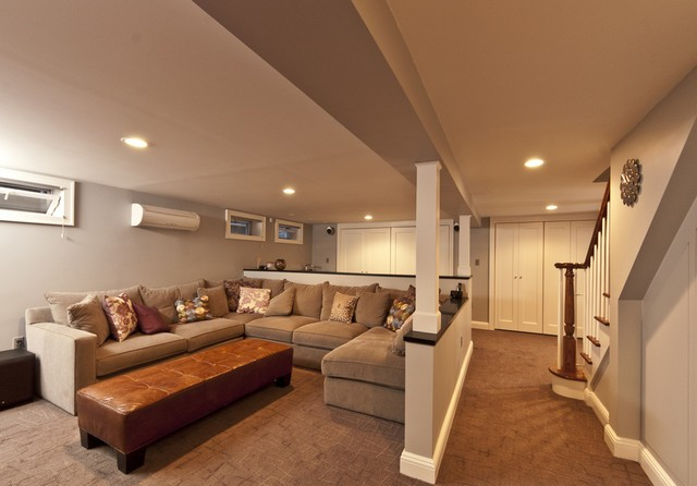 Convert your contemporary basement into livable space for How to turn a basement into a room