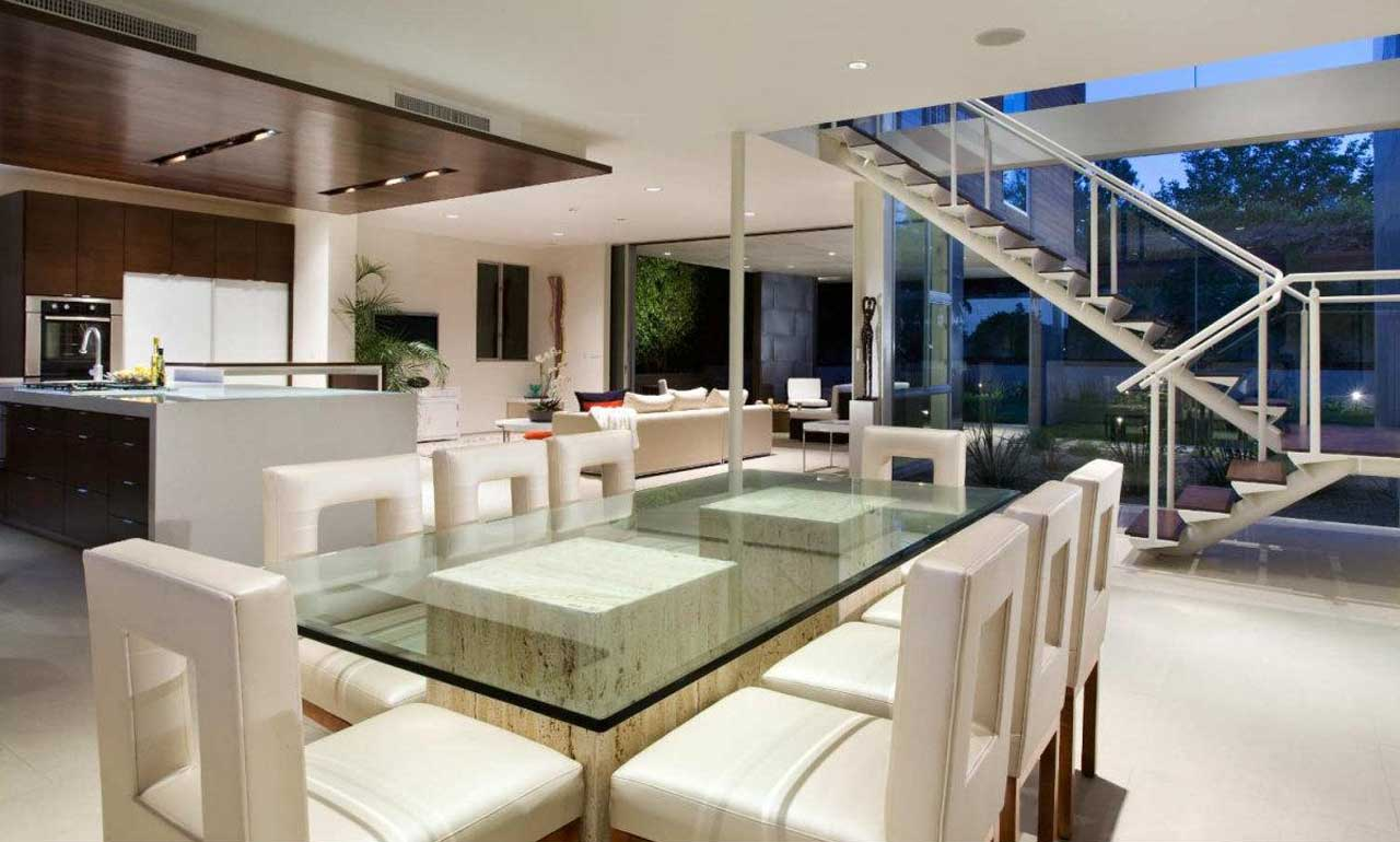 Get the best modern dining room ideas for your home for Modern dining room design photos
