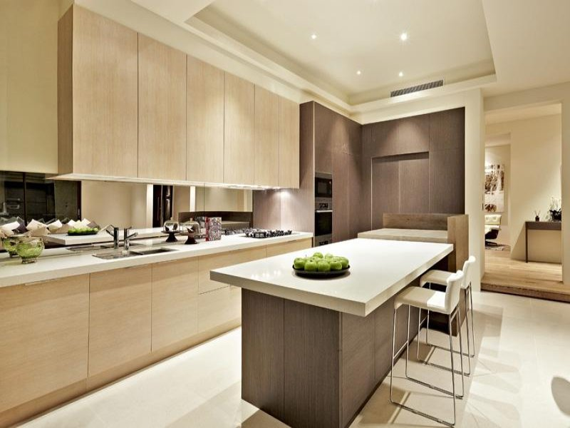 33 simple and practical modern kitchen designs Modern kitchen island ideas