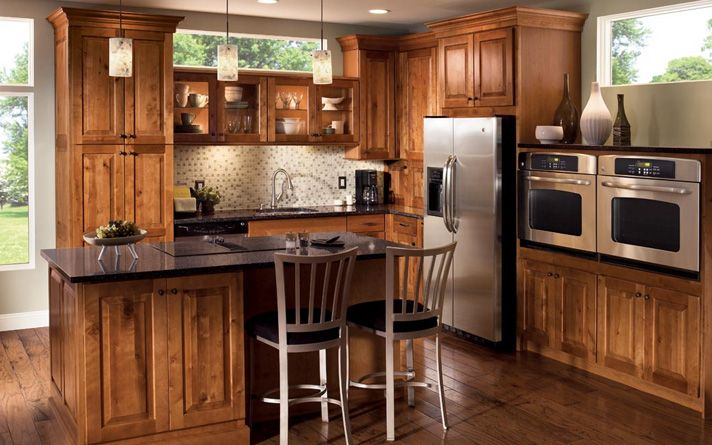 Modern rustic kitchen cabinets