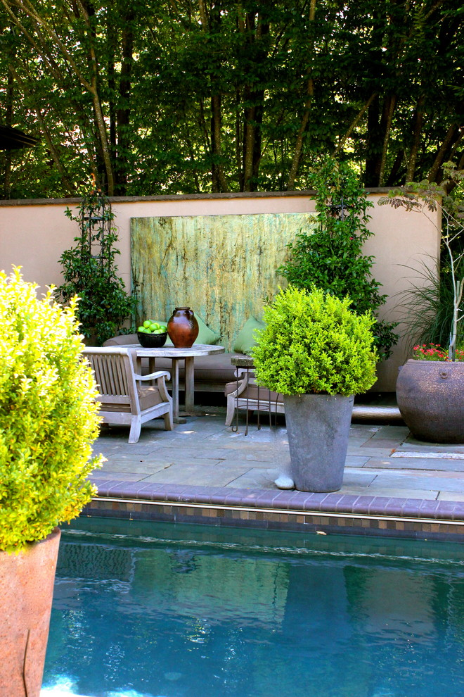 Outdoor-Wall-Art-Decor-Decorating-Ideas-Images-in-Pool-Eclectic-design-ideas