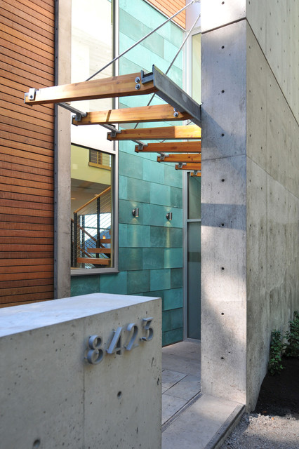 Residence entry contemporary-entry