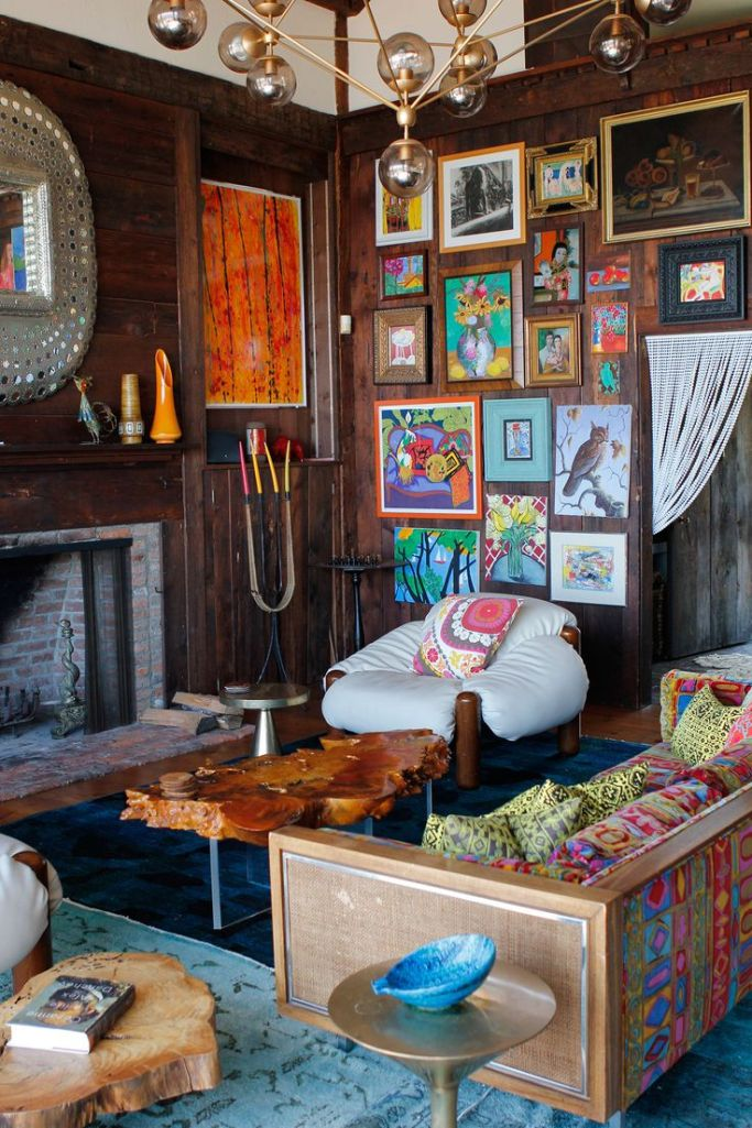 rustic eclectic living room design decor style