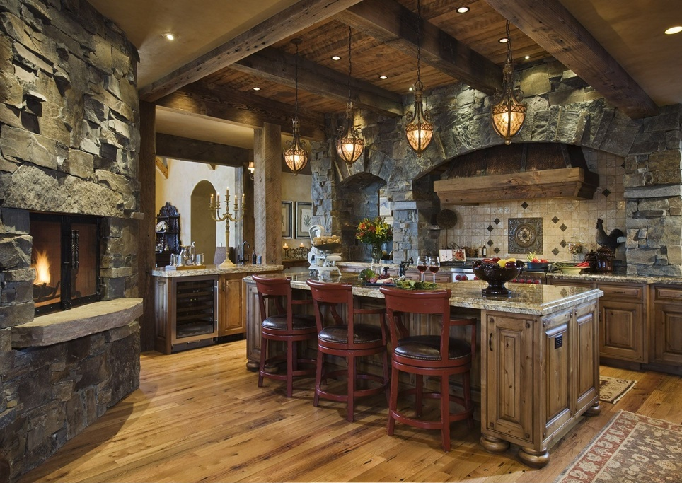 Rustic Kitchen Breakfast Bar Design
