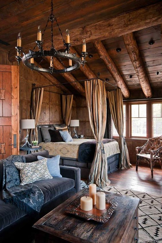 30 rustic bedroom designs to give your home country look for Bedroom ideas rustic