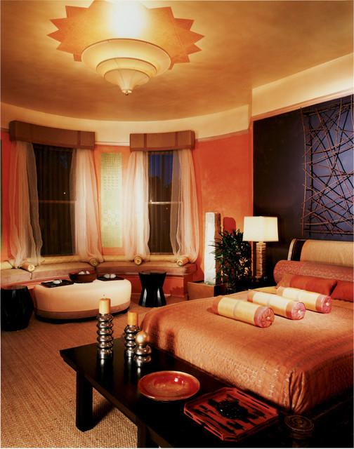 Showcase House Candlelit Room mediterranean-bedroom
