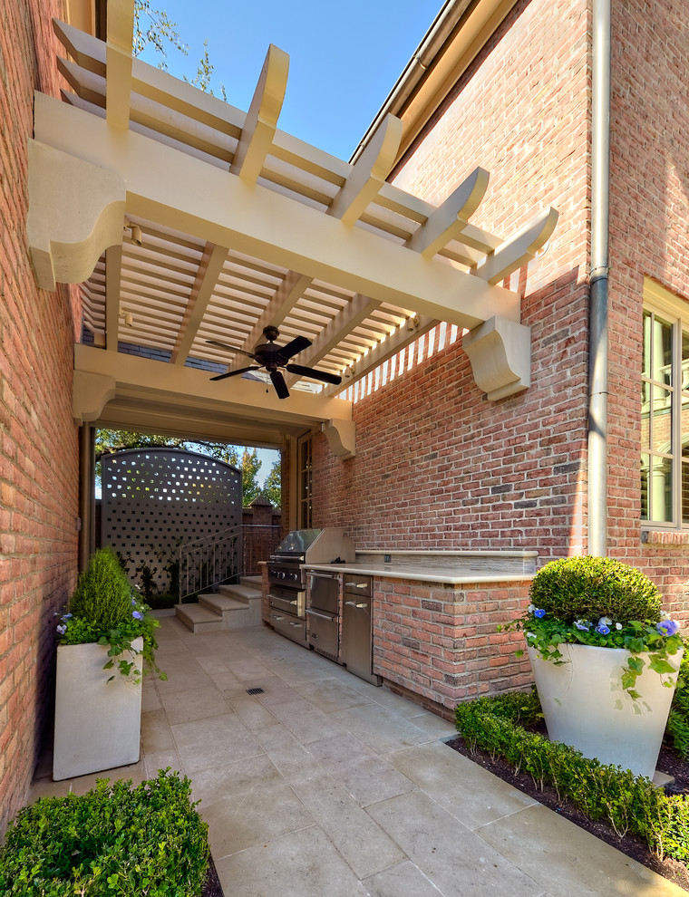 Simple-Outdoor-Kitchen-Design-Patio-Eclectic-With-Beige-Pergola