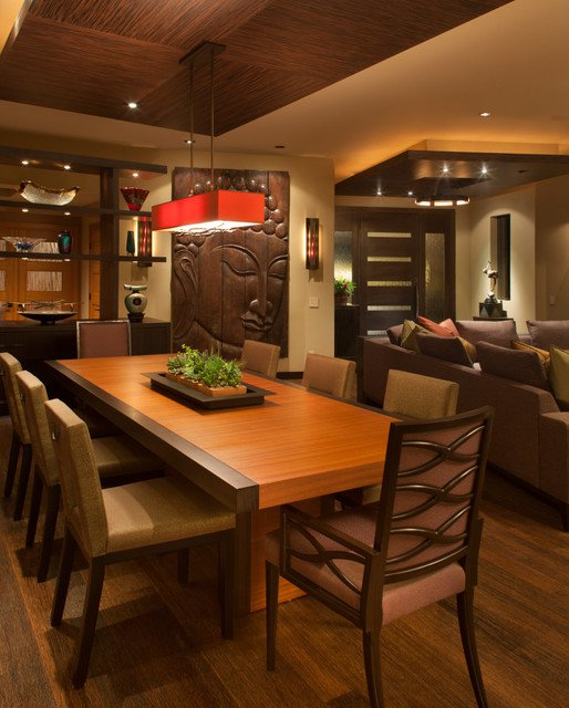 Think out of the box with asian dining room design ideas for Asian inspired decor