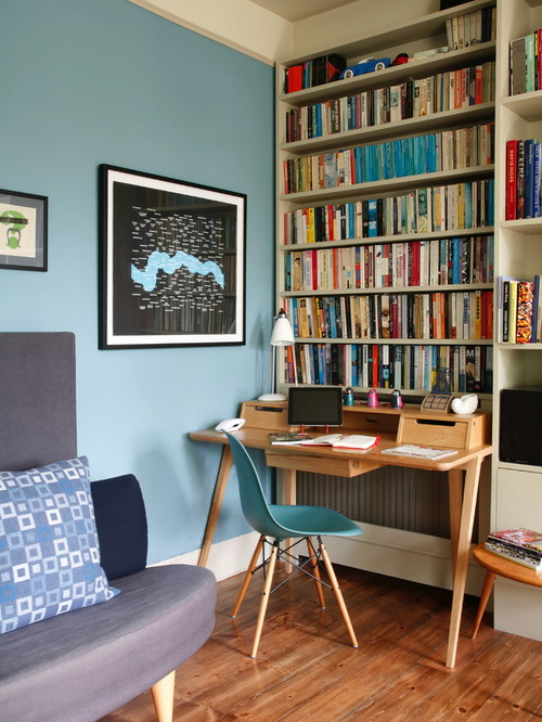 31 great eclectic home office design ideas for Home office decor pictures