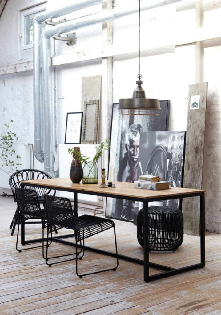 30 Ways To Create A Trendy Industrial Dining Room: 31 Design Ideas For Decorating Industrial Dining Room